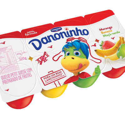 Danoninho Multi 320g Mor/Banana/Maça verde